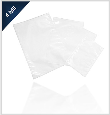 """Commercial Vacuum Pouches 8"""" x 12"""" 4 Mil 500 pcs - For use with Chamber Machines"""