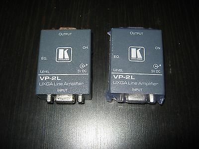 Kramer VP-2L Lot of 2 Video Line Amplifier With Extras