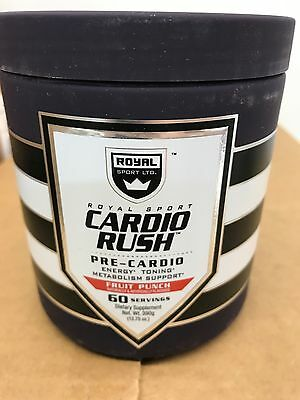 SALE! Royal Sport Cardio Rush Fruit Punch 60 Serving Preworkout Energy & Tone