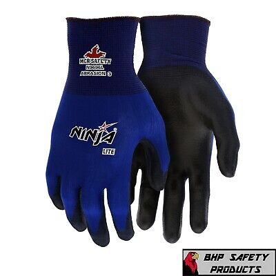 Mcr Memphis Ninja Lite Work Gloves Polyurethane Pu Palm N9696 (1 Doz) Sizes M-Xl