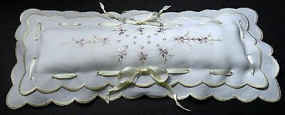 Antique Society Silk Embroidery Linen Pincushion Vanity Style Brooches Hat Pins