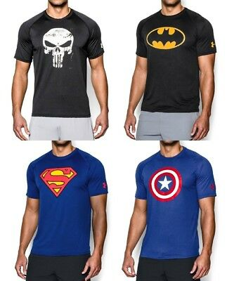 New Men's UNDER ARMOUR Alter Ego Short Sleeve Loose Fit Tee Shirt - DC Marvel