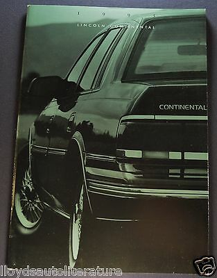 1993 Lincoln Continental Brochure Executive Signature Executive Excellent Orig