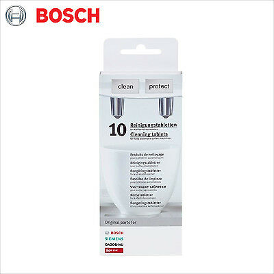 Genuine Bosch 10 Cleaning Tablets Espresso Coffee Machine Clean Protect 311769