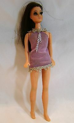 Topper Doll 1970 DAWN Brunette Rooted Eyelashes ANGIE Vintage