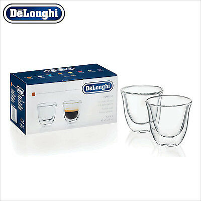 Genuine DeLonghi Espresso Double Wall Thermo Glasses Cups