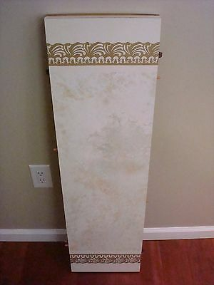 Vintage Table Leaf w/ Faux Marble & Yellow Accent Formica Top