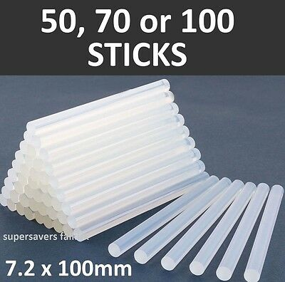 50 70 100 7mm Mini Hot Melt Clear Electric Glue Gun Sticks for Hobby Craft New *