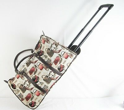 Boutique Fashion design Tapestry Travel Overnight on Wheels bag Signare