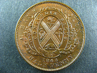 PC-1B3 Halfpenny token 1844 Province of du Canada Montreal Breton 527
