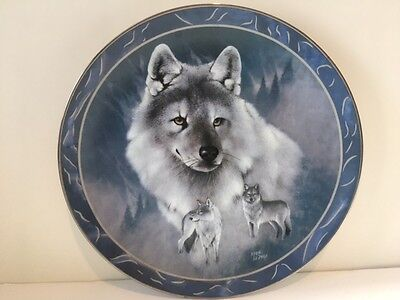 "BRADEX Collectors Plate ""SILVER SCOUT"" by Eddie LePage Spirit of the Wilderness"