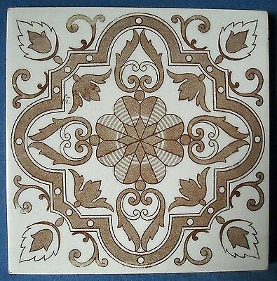 Antique Witteburg Germany - Victorian Majolica Tile C1900