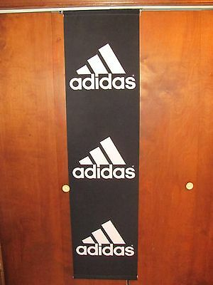 """Awesome ADIDAS Store Banner SIZE 70"""" x 18"""", Black Polyester Fabric + Hang Rods"""