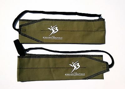 """Strength Wrap Crossfit Olympic Weight lifting wrist wraps 34 1/2 """" w loop Olive"""