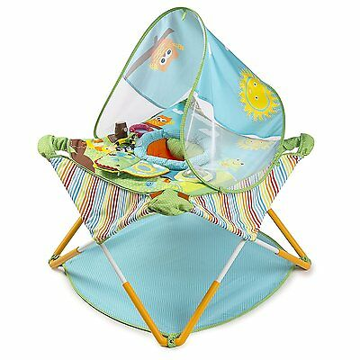 Portable Infant Jumper Play Center Activity Baby Shade Seat Lightweight Folding