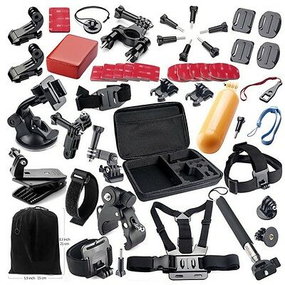 44 in1 Head Chest Mount Strap Accessories Set Kit For GoPro Hero 2 3 3+ 4 Camera
