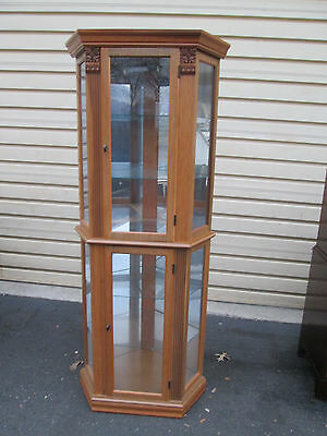 54730   Corner China Cabinet w/ light and glass shelves