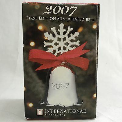 International Silversmiths Silver Plated Bell 2007 First Edition