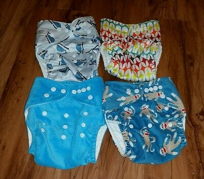 * Baby cloth diapers lot * just simply baby * 4  pocket cloth diaper covers *
