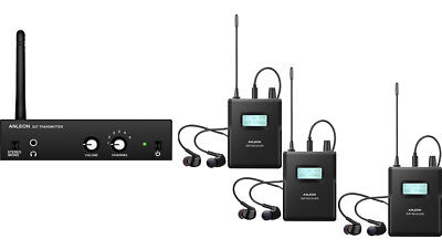 ANLEON S2 UHF In-Ear Monitor System 863-865mhz with 3 Receivers