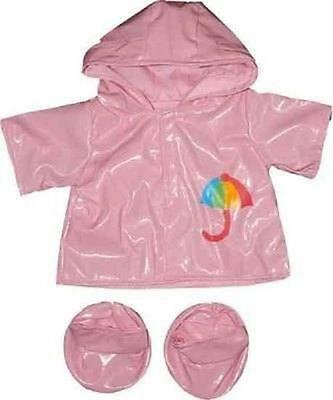 "PINK RAINCOAT & SOFT BOOTS FOR 16""/40cm TEDDY BEARS & BUILD YOUR OWN BEARS"