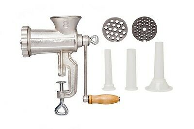 No. 8 Cast Iron Meat Mincer Mill Grinder Sausage Maker Stuffing Attachments