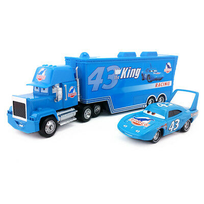 Disney Pixar Car No.43 Mack Racer's Truck & The King Toy Car 1:55 Loose New