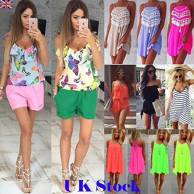 Women Loose Chiffon Dress Cocktail Ladies Mini Party Dress Summer Beach Sundress
