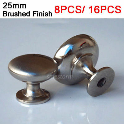 8x/16x Kitchen Drawer Cupboard Door Cabinet Handle Knob Pull Metal Furniture NEW