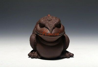 1pc Yixing Purple Sand Handmade Tea Decoration Tea Pet Lucky Toad  Zi Ni