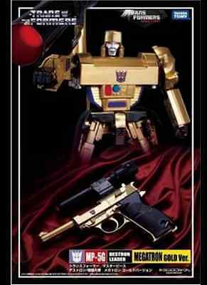 HOT ~ Limited Edition Transformers MP05G MP-05G Gold Edition Megatron