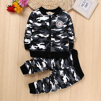 2PC Spring Baby Boy Clothes Outfit Kids Boys Sports Suits Clothing Outfits Sets