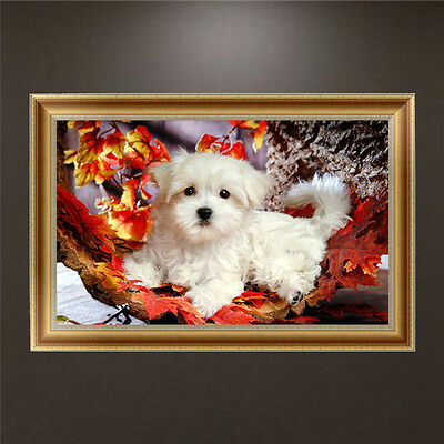 DIY 5D Diamond Painting Cute Dog Embroidery Cross Stitch Craft Home Decor