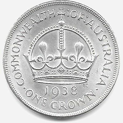 1938  Australian  Silver Crown  -  Uncirculated Condition