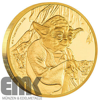 Niue - 200 Dollar 2016 - Yoda - Star Wars Classics (3.) - 1 Oz. Gold in PP