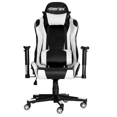 Merax Racing Gaming Office Chair High Back PU Leather Ergonomic Computer Desk