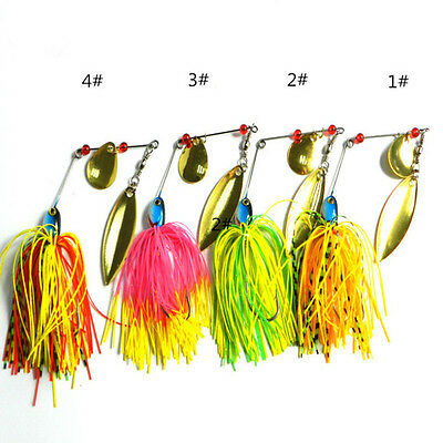 HOT Spinner Bait Artificial Fly Fishing Wobbler Spinner bait for Carp LW8