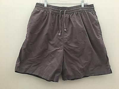 Gray Surf Swim Board Shorts Trunks Men's Size Large lined