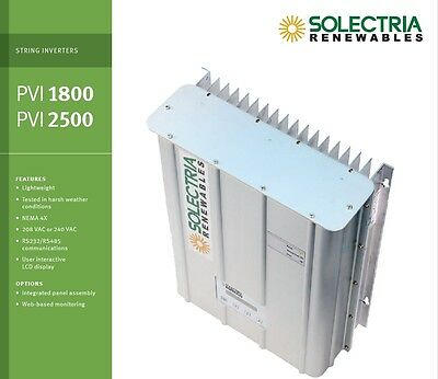 NEW! Solectria PVI2500 Grid-Tied Solar Inverter