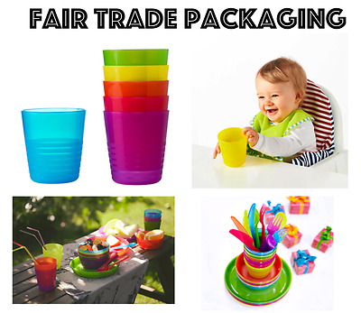 Ikea Kalas Children's Kids Plastic Cups / Mugs x 6 Party Picnic