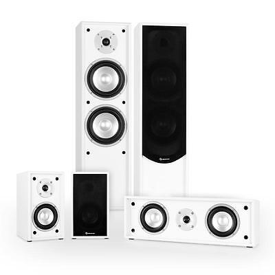 Brand New Passive Home 5.1 Cinema Tower Speakers Set 265W Rms White Cabinets