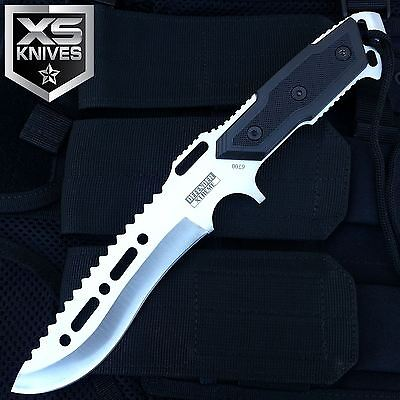 "12"" Tactical Survival Combat Full Tang Fixed Blade Hunting Knife W/ Sheath"