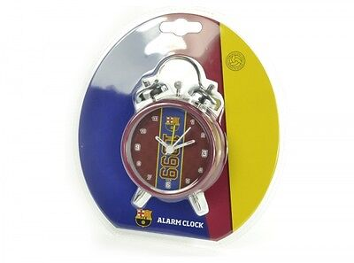 Barcelona FC Maroon Alarm Clock Bell Football Fan Club Crest Gift Boxed Official