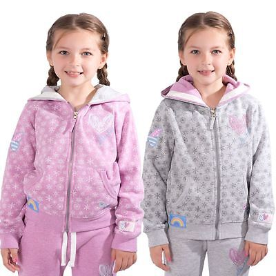 Skechers Girls Hoodie Zip Up Jacket Childrens Kids Sweatshirt Jumper Hoody Top