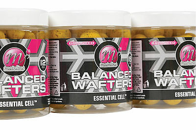 10 X Mainline ESSENTIAL CELL 12 mm WAFTERS TRIAL PACK CARP FISHING