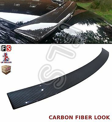 Mercedes C Class W204 Rear Roof Window Spoiler 08-13 Amg Carbon Style Look
