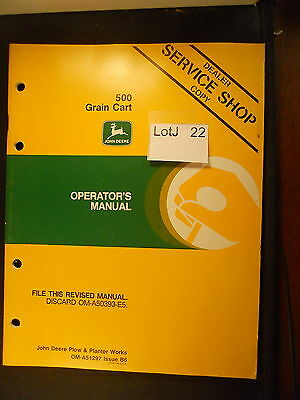 LotJ 22: John Deere Operator's Manual 500 Grain Cart