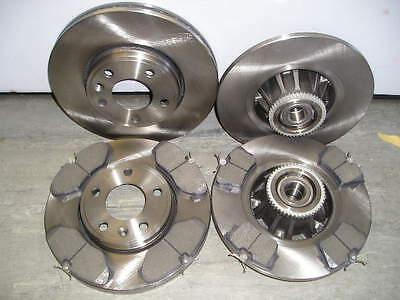 VIVARO FRONT AND REAR BRAKE DISCS & PADS c/w ABS RINGS & FITTED WHEEL BEARINGS