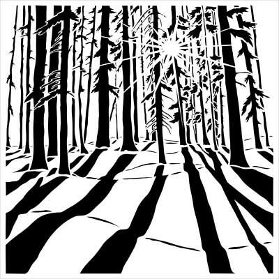 "NEW The Crafter's Workshop Stencils 6""x6"" - Mini Sunlit Forest"