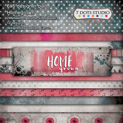 7 Dots Studio, Homegrown Collection, designer pad, 6 x 6, 24 sheets, double s...